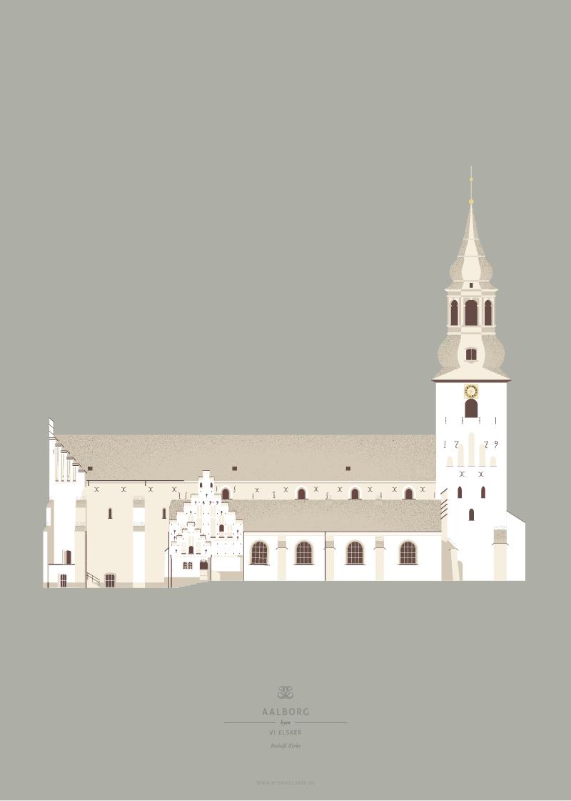 Aalborg Plakat | Budolfi Kirke | Aalborg - Byen Vi Elsker