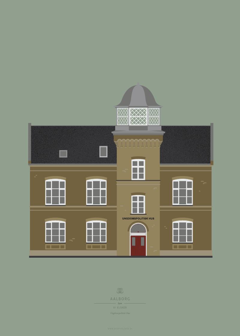 Aalborg Plakat | Ungdomspolitisk Hus | Aalborg - Byen Vi Elsker