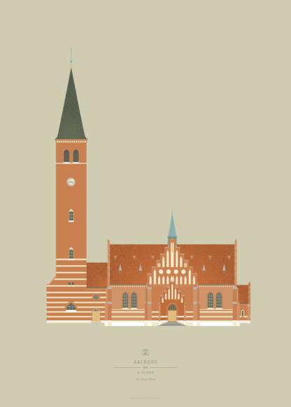Aalborg Plakat | Vor Frelser Kirke | Aalborg - Byen Vi Elsker