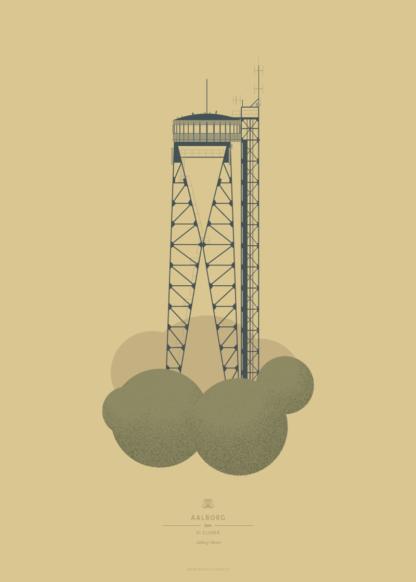 Aalborg Plakat | Aalborg Tårnet | Aalborg - Byen Vi Elsker