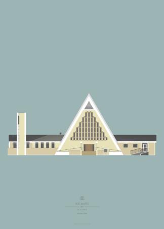 Aalborg Plakat | Vesterkær Kirke | Aalborg - Byen Vi Elsker